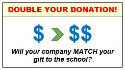 Double Your Donation. Will your company match?