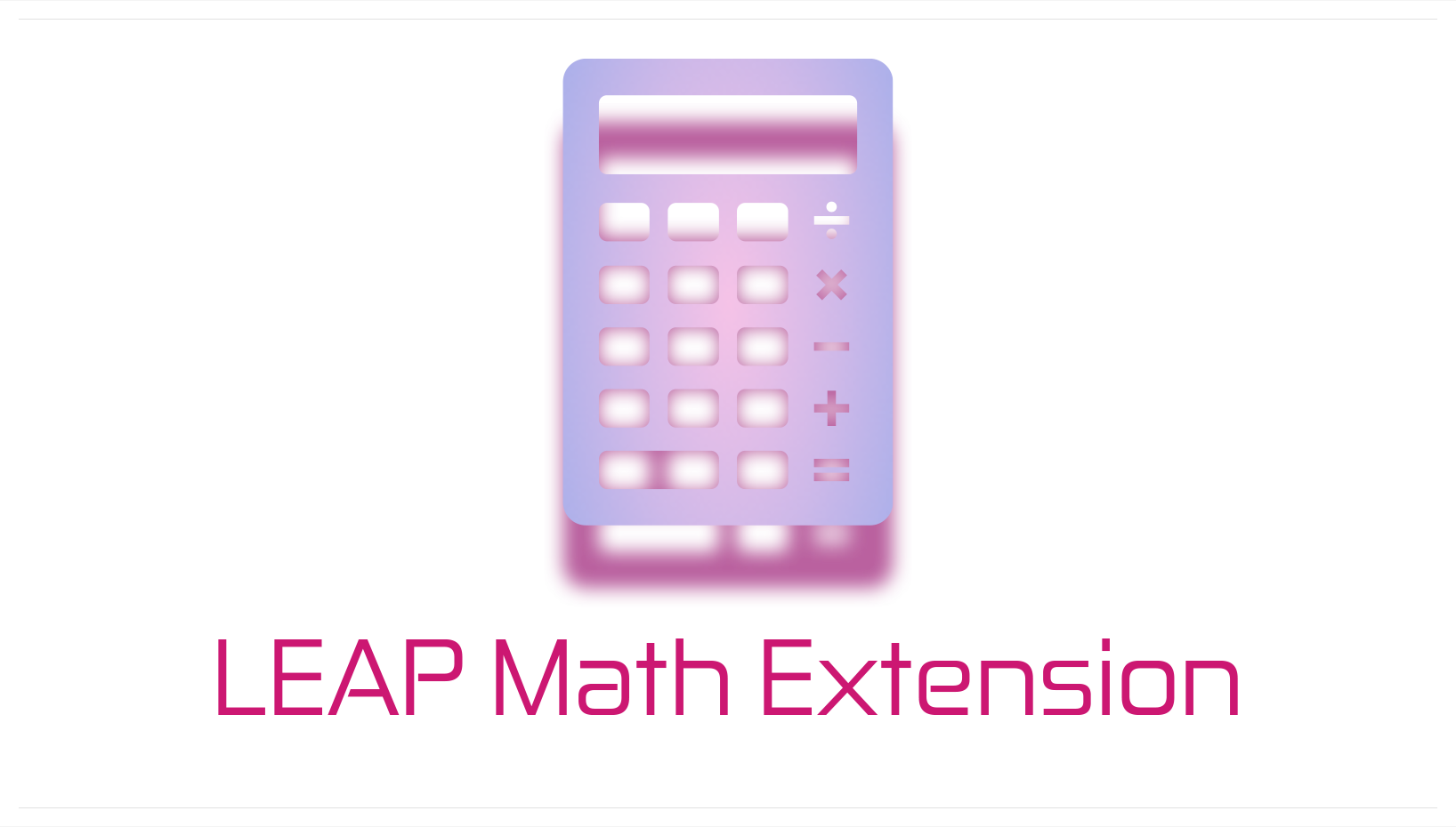 Leap Math Extension Logo
