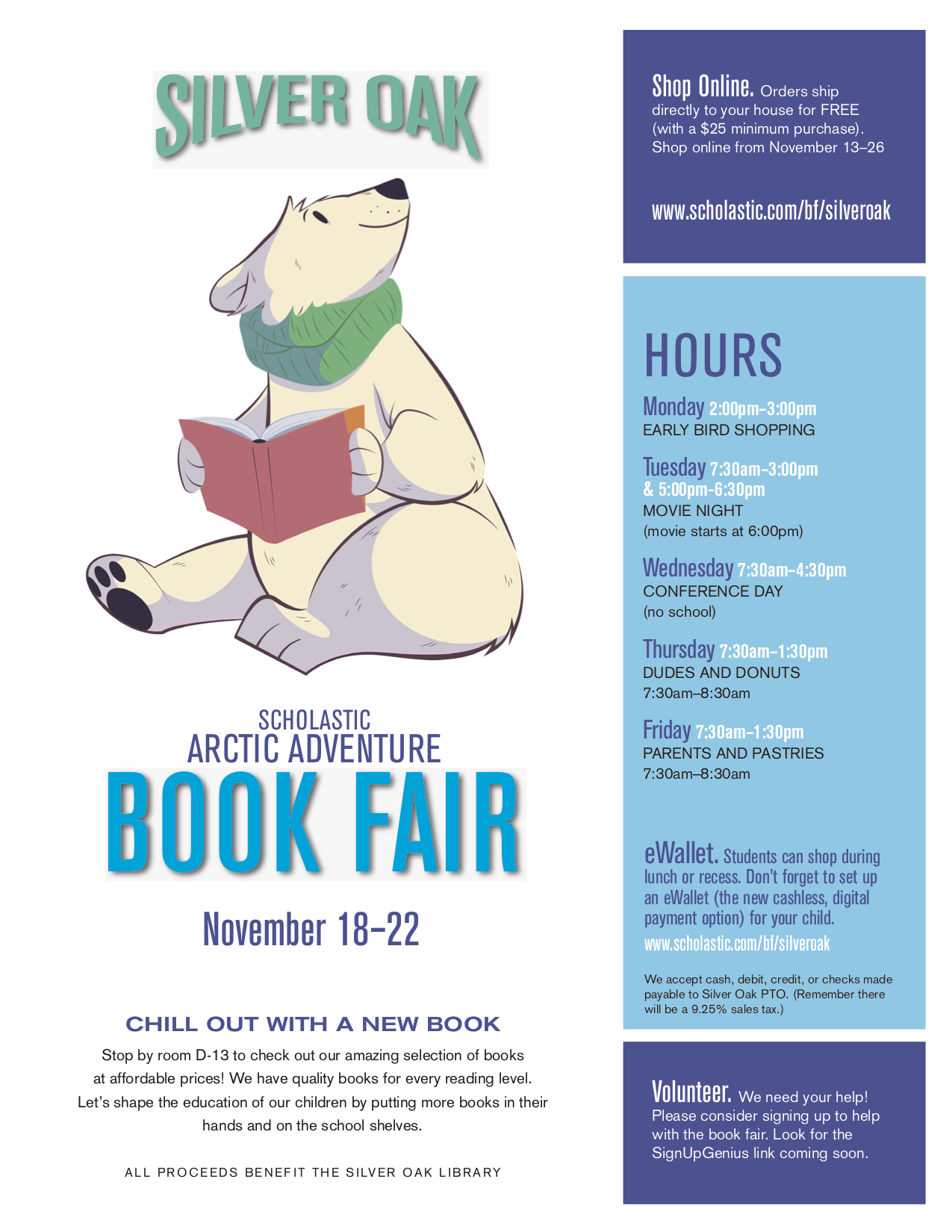 Silver Oak Book Fair 2019 Flyer